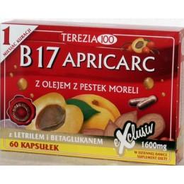 Amigdalina Apricarc B17 Witamina B17 - 60 Amigdalina Apricarc B17 letril Amigdalina Witamina B17 Amigdalina Pestki moreli reishi