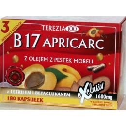 Witamina B17 Apricarc 180 kap B17 amigdalina letril Pestki moreli reishi boczniak Suplement diety Apricarc Witamina B17