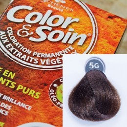 Trwała farba Color & Soin jasnozłocisty szatyn 5G