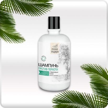 Przeciwłupieżowy szampon do włosów na bazie naturalnego soku brzozowego