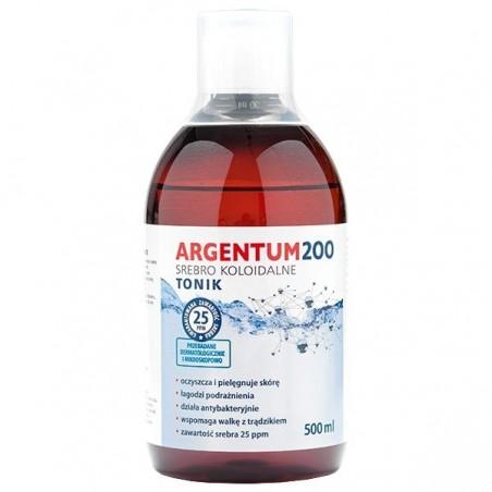 Srebro Koloidalne Argentum 200 25ppm 500 ml Tonik