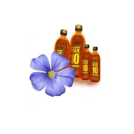 Olej Lniany podstawa diety dr Budwig Olej lniany Nieoczyszczony olej lniany tłoczony na zimno olej lniany