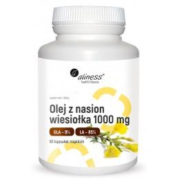 Olej z nasion wiesiołka 1000mg 90 kaps. Aliness kwas linolowy kwas gamma-linolenowy octan D-alfa-tokoferylu Omega-3