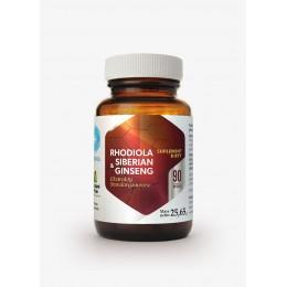 Rhodiola & Siberian Ginseng 90 kaps. Hepatica wyciąg różeńca górskiego wyciąg korzeń żeń-szeń syberyjski