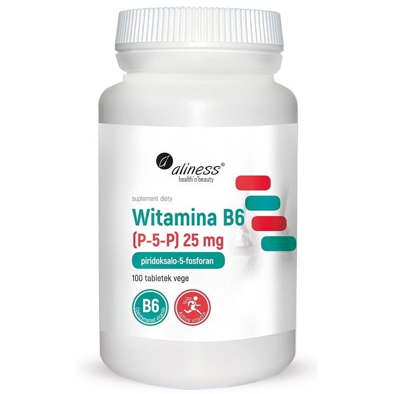 Witamina B6 (P-5-P) 25mg 100 tabl. Aliness piridoksalo-5-fosforan
