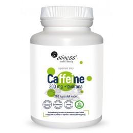 Caffeine 200 mg z guaraną 100 kaps. Aliness kofeina bezwodna guarana