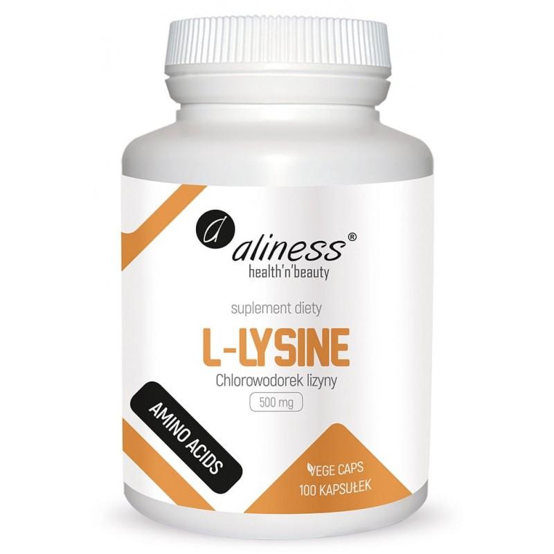L-Lysine 500mg 100 kaps. Aliness Chlorowodorek lizyny HCL