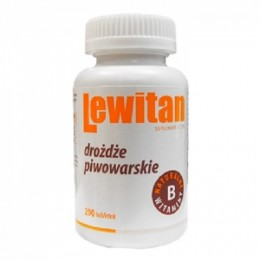 Lewitan drożdże piwowarskie 200 tabletek Saccharomyces cerevisiae tiamina ryboflawina niacyna