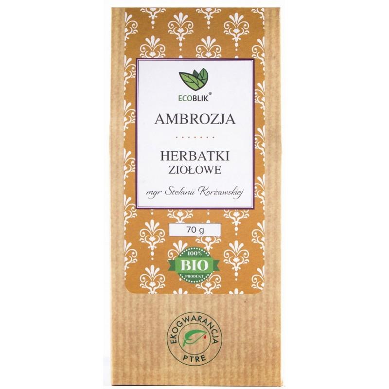 Ambrozja to pachnąca letnim słońcem herbatka ziołowa.