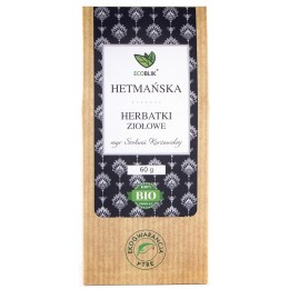 Hetmańska ziołowa herbatka to niezwykła kompozycja. Swój aromat zawdzięcza ona połączeniu lebiodki i majeranku