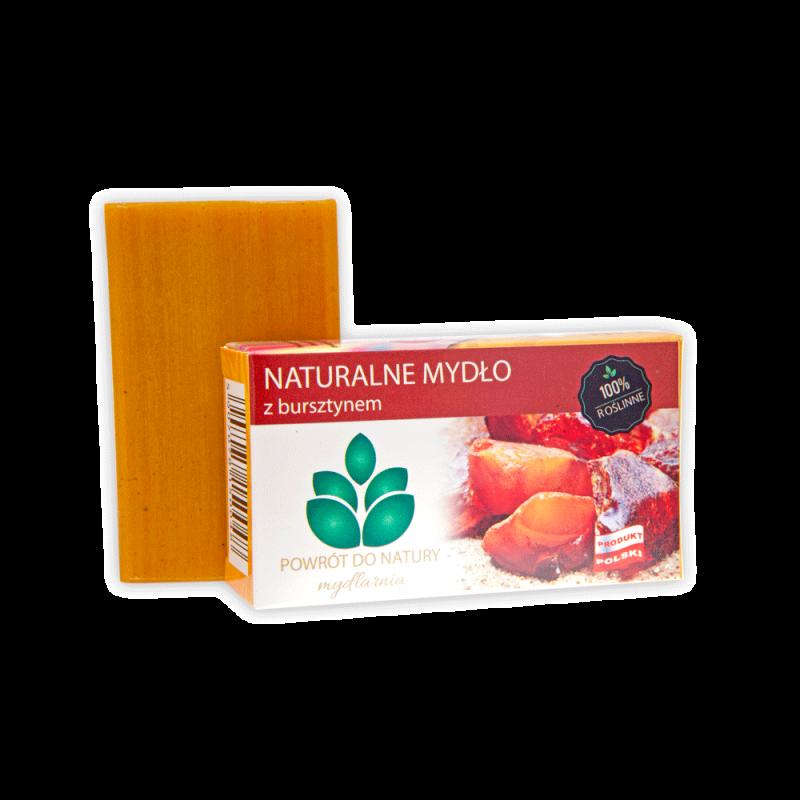 "Naturalne mydło z bursztynem 100 g - bursztyn jantar amber Mydlarnia ""Powrót do Natury"""