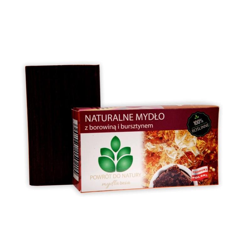 "Naturalne mydło z borowiną i bursztynem 100 g - borowina bursztyn amber jantar Mydlarnia ""Powrót do Natury"""