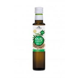 Olej z konopi o wysokiej zawartości wielonienasyconych kwasów tłuszczowych