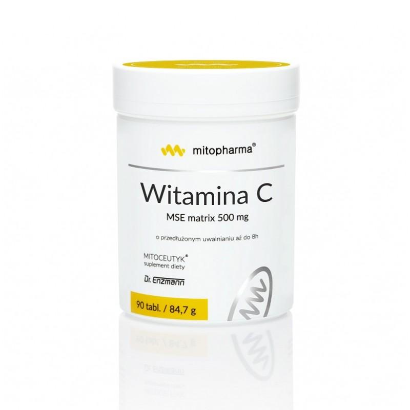 Witamina C MSE Matrix Naturalna witamina C lewoskrętna witamina C 90 tabletek