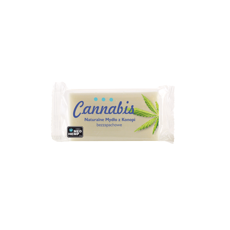 Naturalne, bezwonne mydło z olejem konopnym. Do wszystkich typów skóry