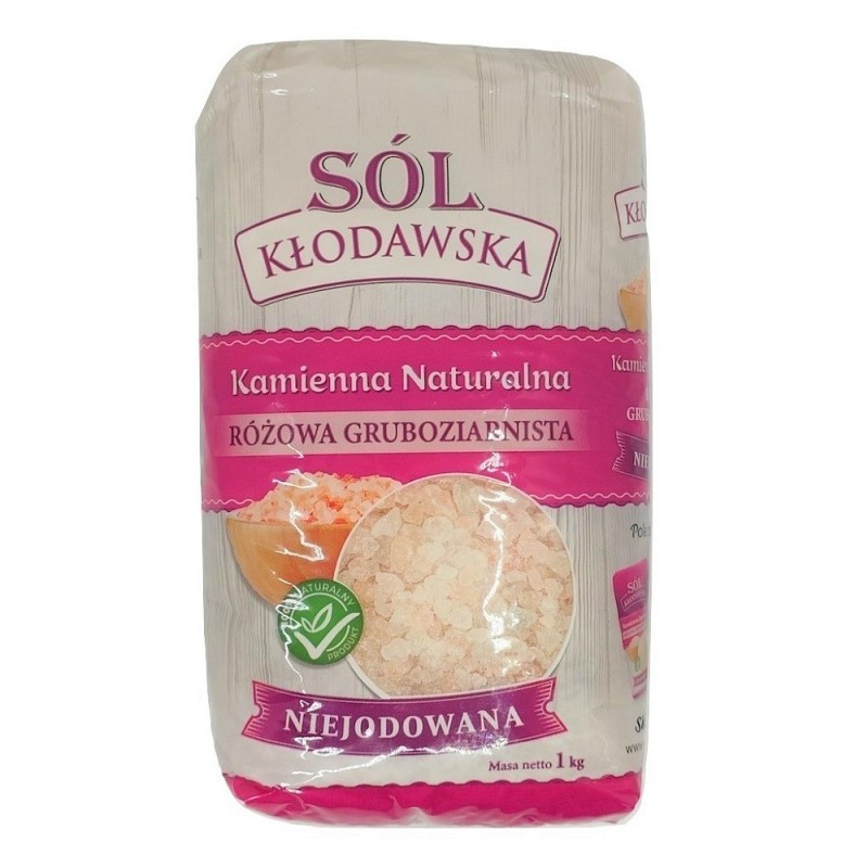 Sól Kłodawa różowa gruboziarnista 1 kg  Sól kłodawska