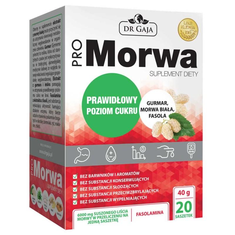 ProMorwa 20 saszetek suplement diety Propharma Dr Gaja morwa biała