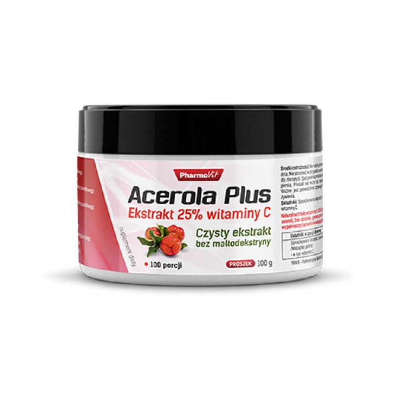 Acerola Plus 100g PharmoVit Ekstrakt 25% witaminy C