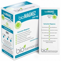 bio Magnez 500mg 20 saszetek bioFarmacja cytrynian magnezu z Morza Martwego