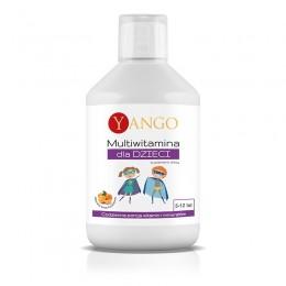 Multiwitamina dla dzieci 500ml Yango witamina A C D3 E complex-B selen cynkjod luteina