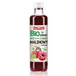 Bio syrop malinowy z miodem 250ml bez dodatku cukru Polska Róża