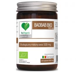 Baobab bio 500mg 100 tabl. BeOrganic Medicaline ekologiczny mielony owoc baobabu Adansonia digitata