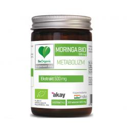 Moringa bio 500mg 100 tabl. BeOrganic Medicaline Moringa Olejodajna Moringa oleifera