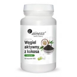 Węgiel aktywny z kokosa Food Grade 300 mg 100 kaps. Aliness