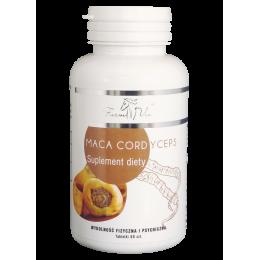 Maca Cordyceps 60 tabl. Farm Vix owocnik maczużnika chińskiego korzeń pieprzycy peruwiańskiej Lepidium meyenii Radix