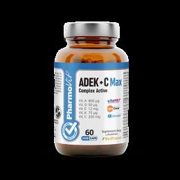 ADEK + C Max complex active 60 kaps. PharmoVit Witamina A D E K CaroCare beta-karoten Bio Perine