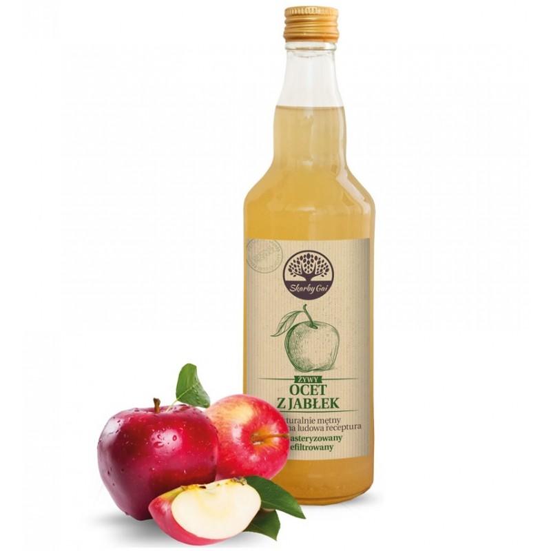 Ocet jabłkowy żywy 500ml niepasteryzowany niefiltrowany Skarby Gai żywy ocet z jabłek