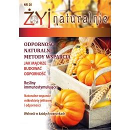 """Czasopismo """"Żyj Naturalnie"""" wrzesień październik 2020 numer 20"""