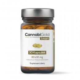 CannabiGold Smart 30 kapsułek (30 x 10 mg CBD) kannabinoidy terpeny flawonoidy olej z konopi ekstrakt z konopi włóknistych
