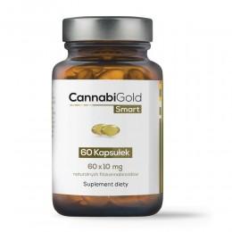 CannabiGold Smart 60 kapsułek (60 x 10 mg CBD) kannabinoidy terpeny flawonoidy olej z konopi ekstrakt z konopi włóknistych
