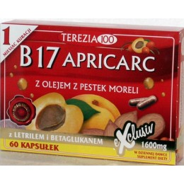 B17 Apricarc 60 szt B17 amigdalina letril tabletki pestki moreli reishi boczniak