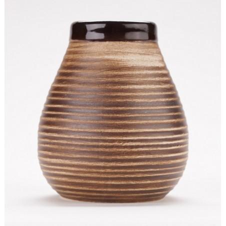 Matero ceramiczne Calabaza brązowe prążki