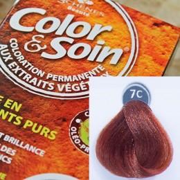 Trwała farba Color & Soin miedziany ciemny blond 7C