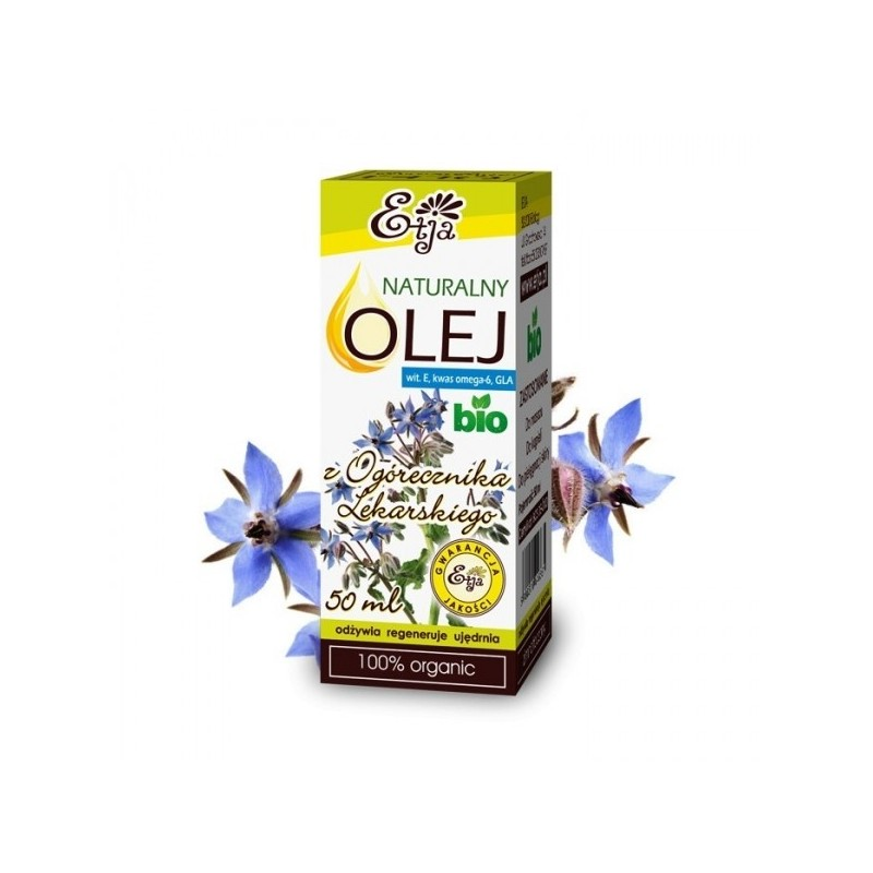 Naturalny olej z ogórecznika lekarskiego BIO 50ml olej z ogórecznika lekarskiego