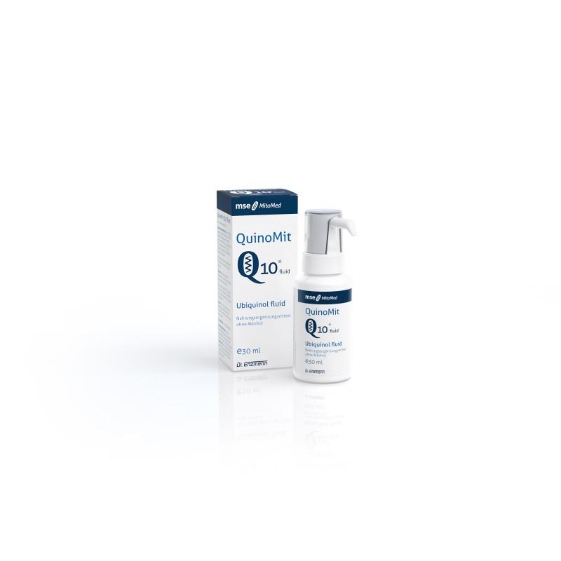 QuinoMit®Q10 fluid Najbardziej aktywna forma koenzymu Q10 na świecie. Czystość 99,8% 30 ml