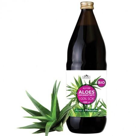 Aloes BIO Sok z aloesu 100% ALV 1200 Aloes Bez konserwantów