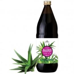 Aloes Sok z aloesu 100% ALV 600 z upraw ekologicznych wyciskany bezpośrednio z liści
