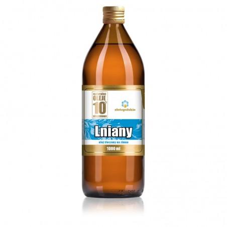 Olej Lniany podstawa diety dr Budwig Olej lniany Nieoczyszczony olej lniany tłoczony na zimno olej lniany 1000 ml