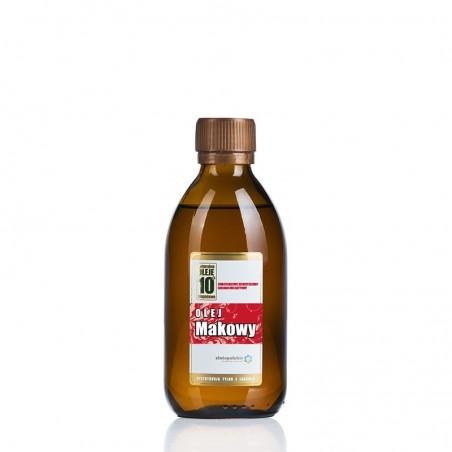 Olej makowy na zimno tłoczony Nieoczyszczony olej z maku Zdrowy olej z nasion maku