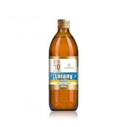 Olej Lniany Złotolen Olej lniany Nieoczyszczony olej lniany tłoczony na zimno olej lniany 500 ml