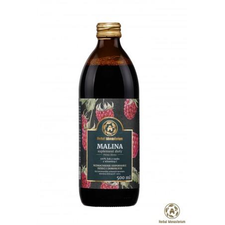 Naturalny sok z malin 500ml Herbal Monasterium