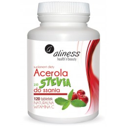 Acerola ze Stevią do ssania 120 tabletek Aliness
