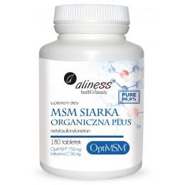 MSM siarka Organiczna PLUS 180 tabletek Aliness