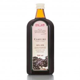 Czarny Bez sok 100% 500 ml Polska Róża