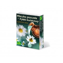 Mleczko pszczele + pyłek kwiatowy 48 kapsułek