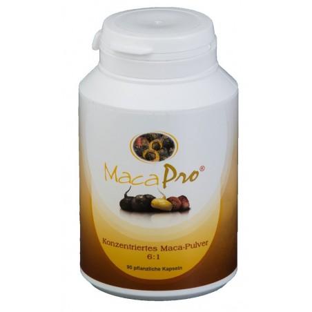 MacaPro® Powder 6:1 Maca - 90 kaps, EKO - 80% maca czarna 15% maca czerwona 5% żółta BIO pieprzyca peruwiańska Lepidium meyenii